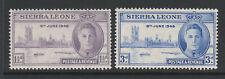 SIERRA LEONE 1946 VICTORY PAIR SG 201-202 MNH.