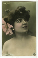 c 1905 French Theater Cabaret Music Hall DELYS of the Cigale photo postcard