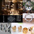 Clear Chandelier Glass Hanging Drop Pendant Crystal Lamp Prism DIY Home Decor