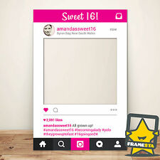 Sweet 16 Birthday Party Photo Booth Prop Instagram Frame (60 x 90 cm)