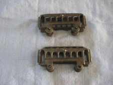 Pair Of Cast Iron Floor Train Passenger Cars Nickel Plated Possibly Trolley Cars