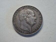 Silber Münze Vereinsthaler Friedrich Wilhelm IV. König von Preussen 1861, AKS 78