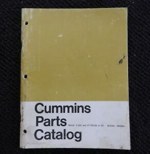 1965 CUMMINS V-525 VT-700 GS GC DIESEL ENGINE PARTS MANUAL CATALOG VERY GOOD