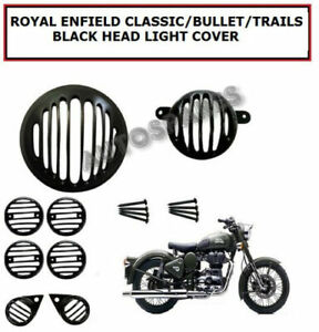 Royal Enfield Classic/Bullet/Trails Black Head Light Cover