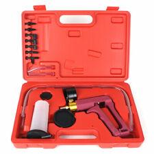 Hand Held Vacuum Pressure Pump Brake Bleeder Tester Tool Kit w/ Adapters for Car