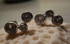 Three Faux Diamond Post Earrings