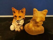 LATEX MOULD OF A FOX GARDEN ORNAMENT