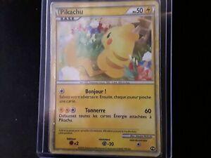Pikachu Bonjour carte promo World Française dos Japonais pikachu world promo
