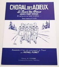 """Partition sheet music Chant Ecossais Scout """"Choral des Adieux"""" * MICHEL FLORET"""