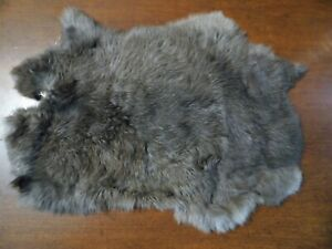 NICE TANNED RABBIT FUR PELT -------- SOFT AND READY FOR USE (M-3)