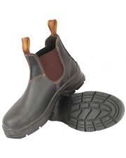 Blundstone Men/Women Leather Elastic Side Plain Toe Work Boots 405---Special
