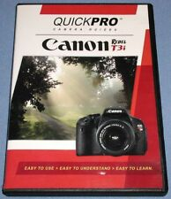 QuickPro Canon Rebel T3i Camera User Guide Instructional on DVD ** Excellent