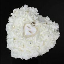 Personalized Wedding Rose HeartShaped Ring Box Bearer Holder Pillow R5Z7 Cu W8A3
