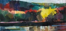 JOSE TRUJILLO Oil Painting IMPRESSIONISM LANDSCAPE RIVER NATURE EXPRESSIONISM