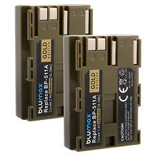 2x Akku für Canon BP-511A |60397 |2040mAh| PowerShot G5 G6 EOS 50D D60 MV700 750