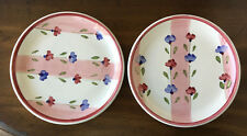 """Two (2) Caleca Petali Pink Salad Plates Made in Italy New 8 1/4"""" HTF"""