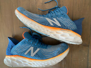 New Balance 1080v10 Mens Running Shoes Size 10.5 Blue Dolphins