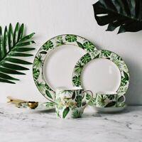 Ceramic Dish Mug Saucer Tableware Porcelain Dinnerware Set Floral European Plate