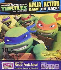Betty Crocker Fruit Snacks Teenage Mutant NINJA TURTLES (10) .8oz Pouches 2 Boxs