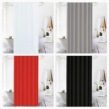 Extra Long Shower Curtain Elegant Plain Patten Polyester Fabric 5 Colors 180x200