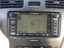 02 03 LEXUS ES300 GPS NAVIGATION ASSEMBLY VOICE NAVIGATION TESTED 86120-33550