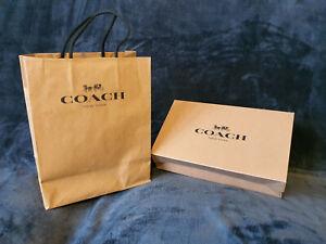 Coach gift bag and box