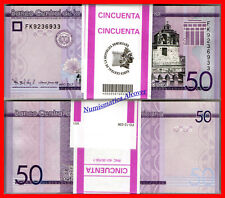 Half Bundle 50 Pcs x DOMINICAN REPUBLIC 50 Pesos 2017 Pick NEW UNC