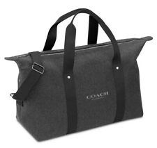 NEW COACH Fragrances Weekender Overnight Duffle Bag Travel Gym Charcoal Gray