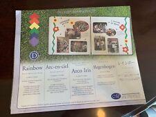 Creative Memories Scrapbook Collection Rainbow Photo Mounting Paper