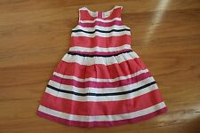 NWT Gymboree Ciao Puppy Red Pink White Multi Stripe Dress Size 4 and 10