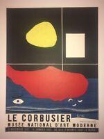 LE CORBUSIER AFFICHE ORIGINALE 1962