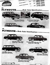 1946 1947 1948 1949 1950 1951 1952 1953 1954 PLYMOUTH BODY PARTS CRASH SHEETS