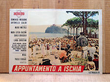 APPUNTAMENTO A ISCHIA fotobusta poster Modugno Mina Castello Aragonese Y44