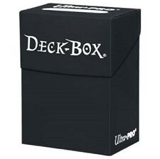 Ultra Pro Black Deck Box holds 80 sleeved cards Pokemon MTG FOW Yugioh