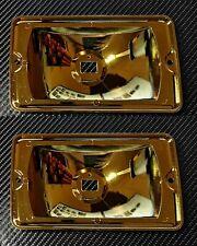 2 x Peugeot 205 GTI CTI Yellow siem reflector spot light rebuild lens units