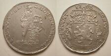 PD05169 Zeeland ¼ Zilveren dukaat 1763 Middelburg prachtig -RR