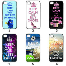 For Designer Phone Hard Case Cover Keep Calm Designer Collection 7c