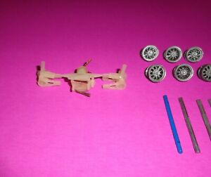 Independent Steering Front Axles & Guide W/ Parts Cox Ulrich Strombecker Rare!