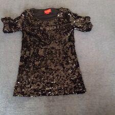 Vivienne Westwood Sequin Top / Mini Dress- Size S - Black - Not Been Worn