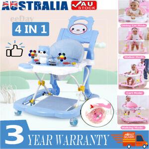 Upgrade Adjustable Baby Walker Stroller Play Activity Music Kids Ride On Toy Car