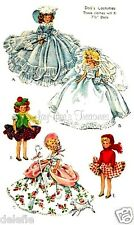 1653 Vintage Doll Clothes Pattern 7-1/2  inch Dolls