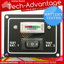 12V BOAT CARAVAN BATTERY DUAL TEST CONDITION TESTER METER SWITCH PANEL
