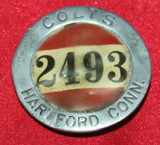 COLT FIREARMS FACTORY Employee Badge by Whitehead & Hoag Red & White