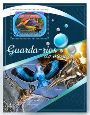 Guinea-Bissau 2016 MNH Kingfishers 1v S/S Oriental Dwarf Kingfisher Birds Stamps