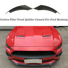 2xCarbon Splitter Flaps Spoiler  Front Fins Lippe Canards für Ford Mustang 18-19