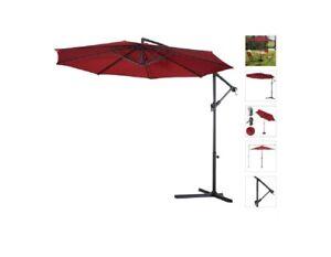 10' Offset Cantilever Patio Umbrella Octagonal Outdoor Shade for Deck Pool Yard