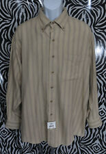 New NWT Savane Mens Size XL Long Sleeve Button Front Flannel Shirt Cotton Top