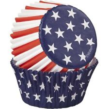Patriotic Stars and Strips Cupcake Liners Wilton 75ct Memorial Flag Day July 4