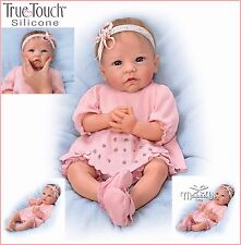 Linda Murray Claire Silicone Weighted Baby Girl Doll by Ashton-Drake Rooted Hair