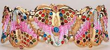 Angel Wings Stretchy Cuff Bracelet Crystal Rhinestone Fashion Multi-color BD18